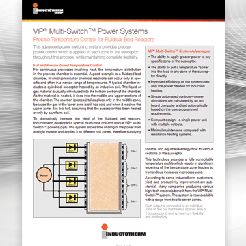 VIP® Multi-Switch™ Power Systems Fluidical Bed Bulletin, Related literature resource for Inductotherm's Multi-Switch™ VIP® Power Supply Units